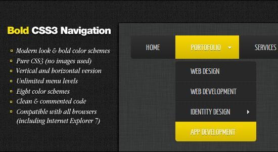 Bold-jquery-css-navigation