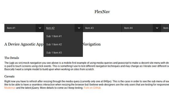 Flexnav-jquery-css-navigation