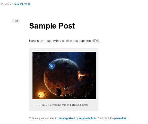 HTML Captions