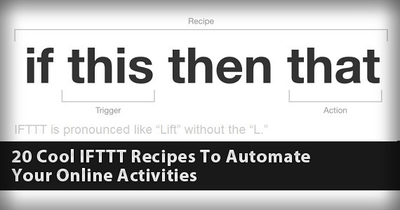 20 Cool IFTTT Recipes To Automate Your Online Activities
