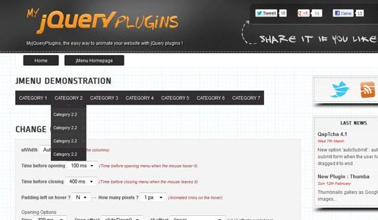 Jmenu-jquery-css-navigation