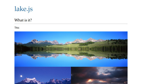 Lake-jquery-image-gallery-plugins