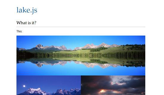 Lake-jquery-image-gallery-plugins