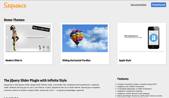 Sequence-jquery-image-gallery-plugins