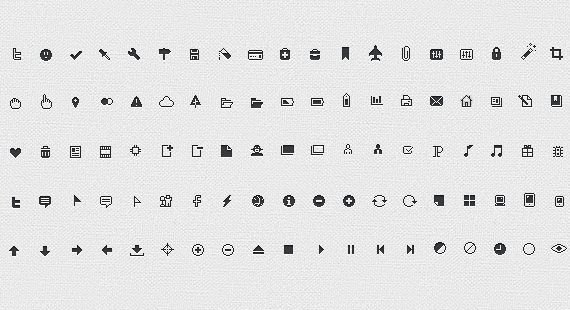 25 Sets Of Clean Icons For Perfect Minimal Web Design
