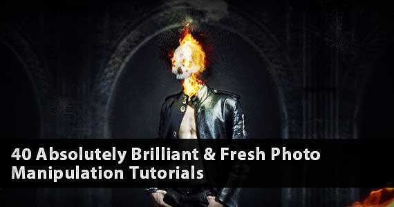 40 Absolutely Brilliant & Fresh Photo Manipulation Tutorials