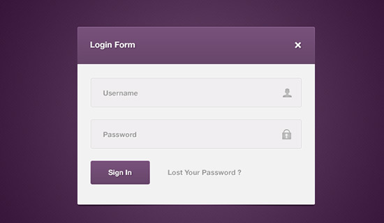 Login-form-psd-web-interface-elements