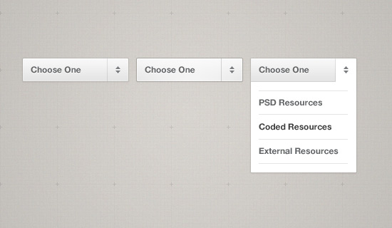 Simple-dropdown-psd-web-interface-elements