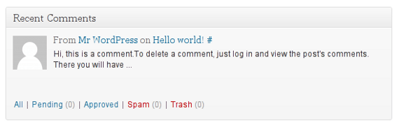 Recent comments widget