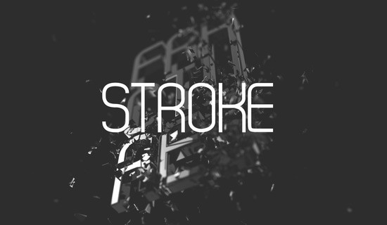 Stroke free fonts 2015