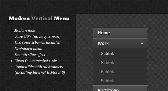 Horizontal Menu Collection: 35 Cool jQuery UI Bars