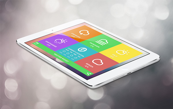 tablets have bigger tiles than phones - App Design Ideas