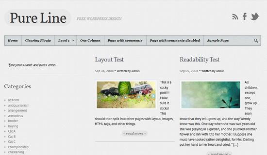 Pureline-free-wordpress-themes-2012