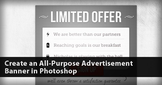 Create an All-Purpose Advertisement Banner in Photoshop