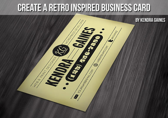Create A Retro Inspired Business Card