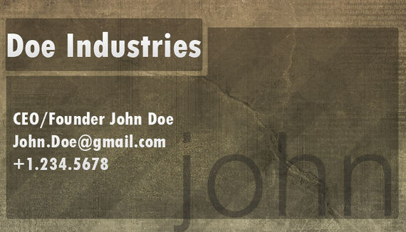 Designing a Professional Business Card
