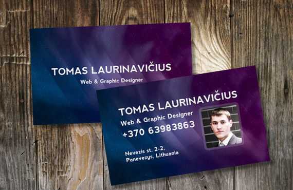 How to Make a Space-Themed Business Card
