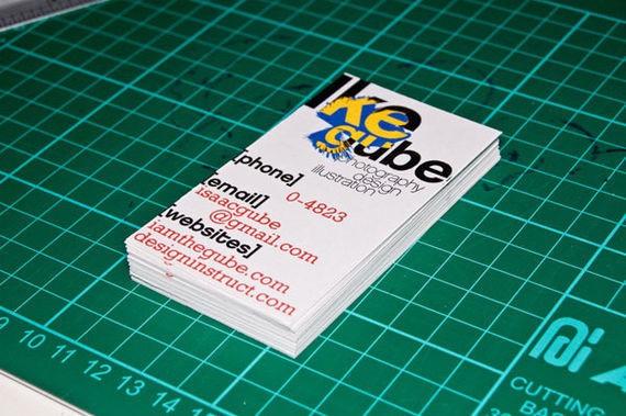 Make Swiss Design Inspired Business Cards