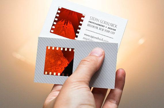 How to Make Your Own Photographic Negative Business Cards