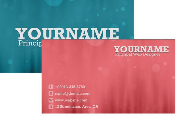 How To Create A Sweet Bokeh Business Card In Photoshop