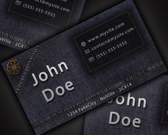 Design a Cool and Original Jeans Style Business Card