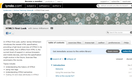 HTML - Online Courses, Classes, Training, Tutorials on Lynda