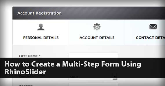 How to Create a Multi-Step Form Using RhinoSlider