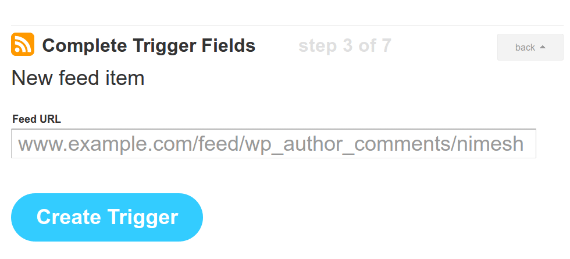Complete Incoming Trigger Fields