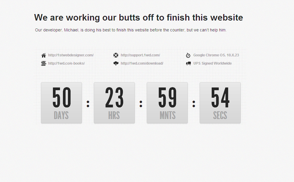 Coming Soon Page - Countdown Timer