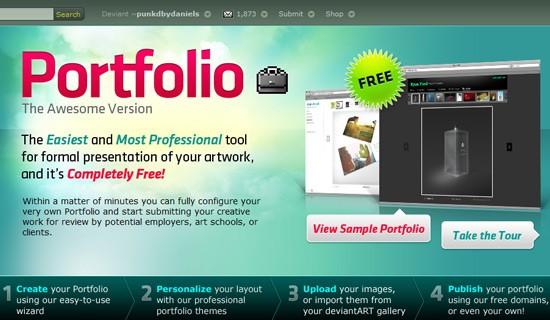 Deviantart-create-online-portfolio