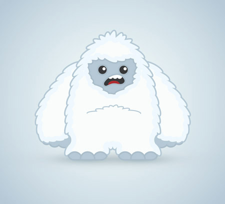 Yeti-character-adobe-illustrator-tutorials
