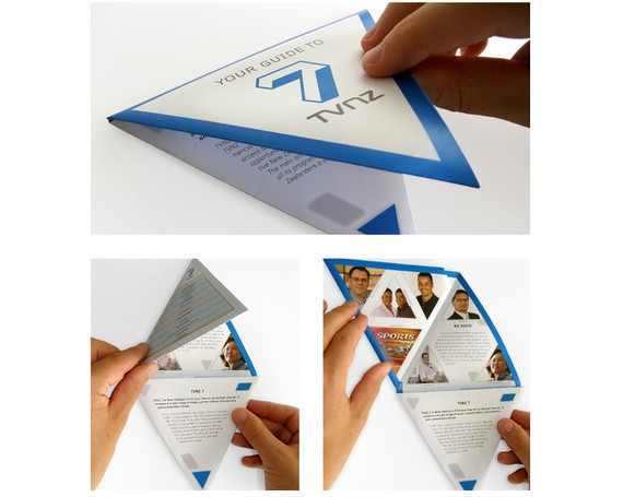 Tvnz 7- Triangular Folding Brochure