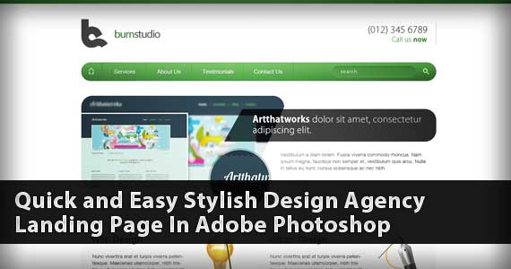 Quick and Easy Stylish Design Agency Landing Page In Adobe Photoshop