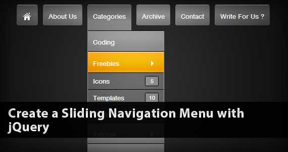Create a Sliding Navigation Menu with jQuery
