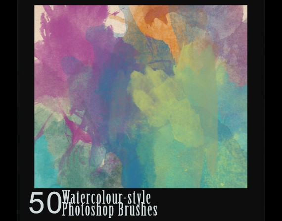 50 Watercolour-Style Brushes