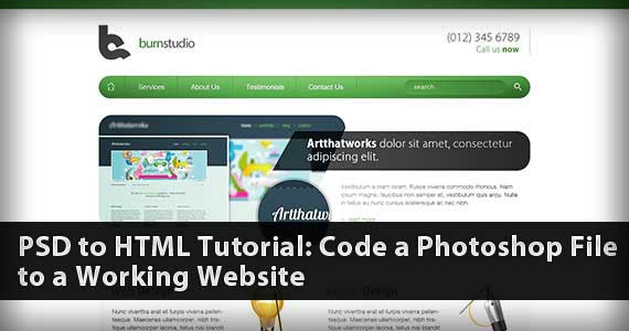 PSD to HTML Tutorial: Code a Photoshop File to a Working Website