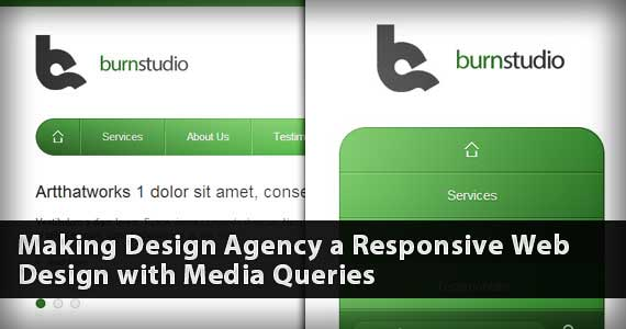Media Queries Tutorial – Convert Burnstudio into a Responsive Website