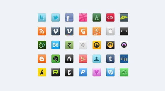 35 Sweet Social Icons ফ্রী ডাউনলোড করুন High Quality চমৎকার কিছু Icons পিএসডি Format-এ