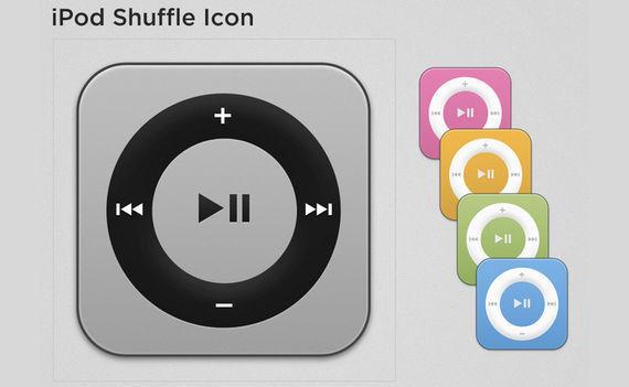 iPod Shuffle Icon PSD (all 5 colors) ফ্রী ডাউনলোড করুন High Quality চমৎকার কিছু Icons পিএসডি Format-এ
