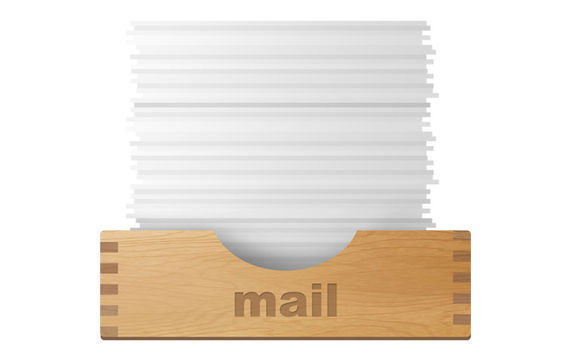 Inbox and outbox icons