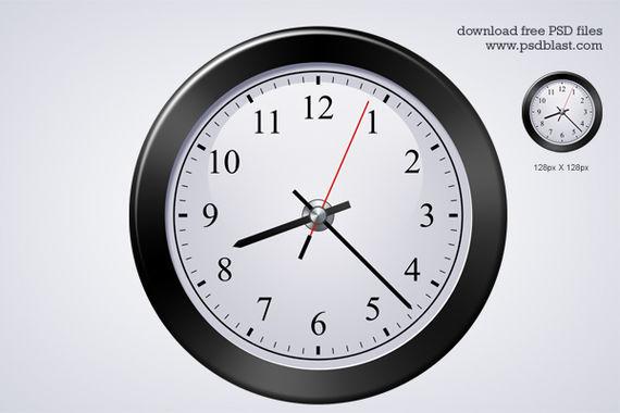 Classic Clock Icon ফ্রী ডাউনলোড করুন High Quality চমৎকার কিছু Icons পিএসডি Format-এ
