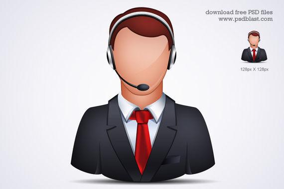 Online Customer Support Icon ফ্রী ডাউনলোড করুন High Quality চমৎকার কিছু Icons পিএসডি Format-এ