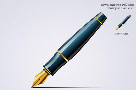 Pen Icon ফ্রী ডাউনলোড করুন High Quality চমৎকার কিছু Icons পিএসডি Format-এ