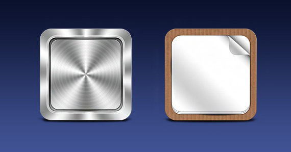 Mobile App icon templates (PSD)