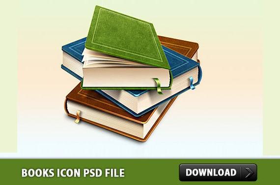 Books Icon ফ্রী ডাউনলোড করুন High Quality চমৎকার কিছু Icons পিএসডি Format-এ