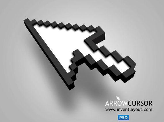 Arrow Cursor ফ্রী ডাউনলোড করুন High Quality চমৎকার কিছু Icons পিএসডি Format-এ
