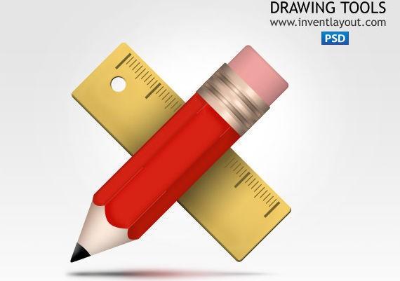 Drawing Tools Icon ফ্রী ডাউনলোড করুন High Quality চমৎকার কিছু Icons পিএসডি Format-এ