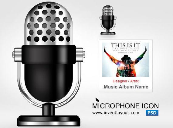 Microphone Icon ফ্রী ডাউনলোড করুন High Quality চমৎকার কিছু Icons পিএসডি Format-এ