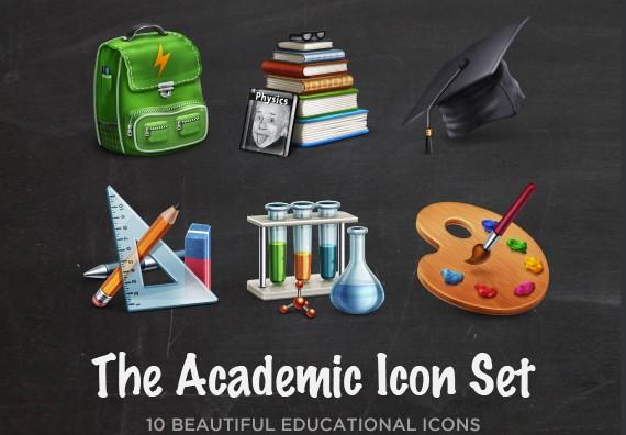 Academic Icon Set ফ্রী ডাউনলোড করুন High Quality চমৎকার কিছু Icons পিএসডি Format-এ