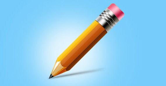 Pencil icon (Vector PSD)